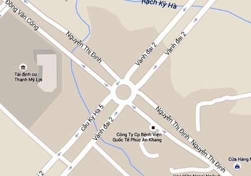 Nút giao Mỹ Thủy (Quận 2, TP. HCM). Ảnh: Google maps