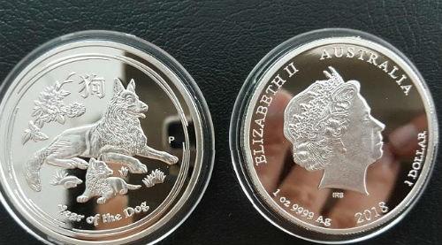 Tiền xu Australia có mạ bạc và vàng.
