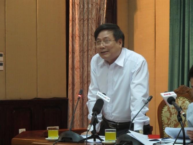 ong Chien, phó Giám đốc Sở phat bieu tai cuoc hop