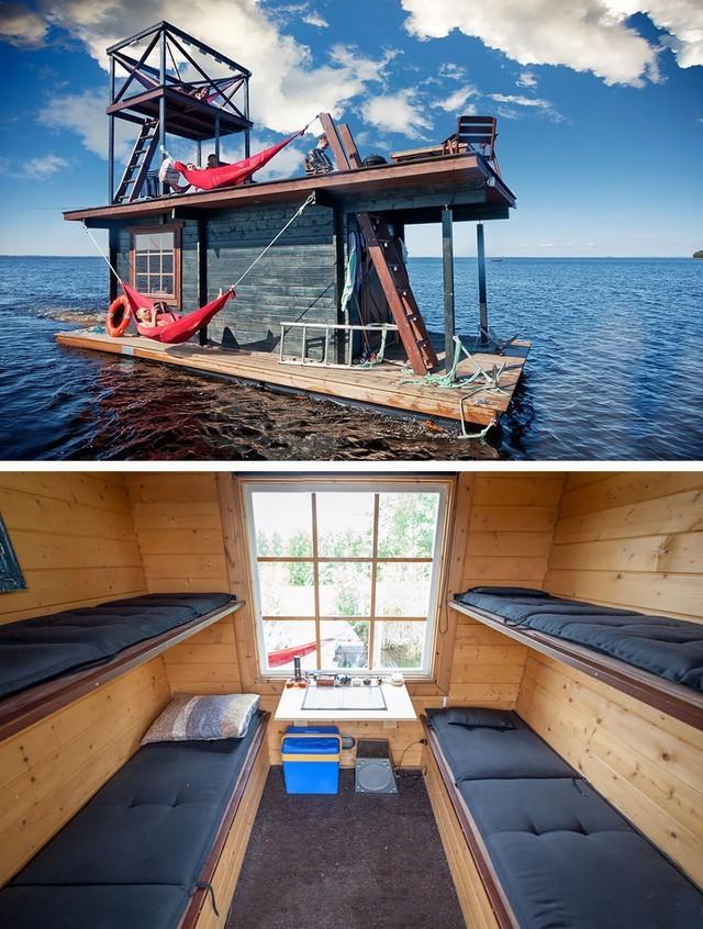 Nhà thuyền nổi thoáng đãng ở Phần Lan.