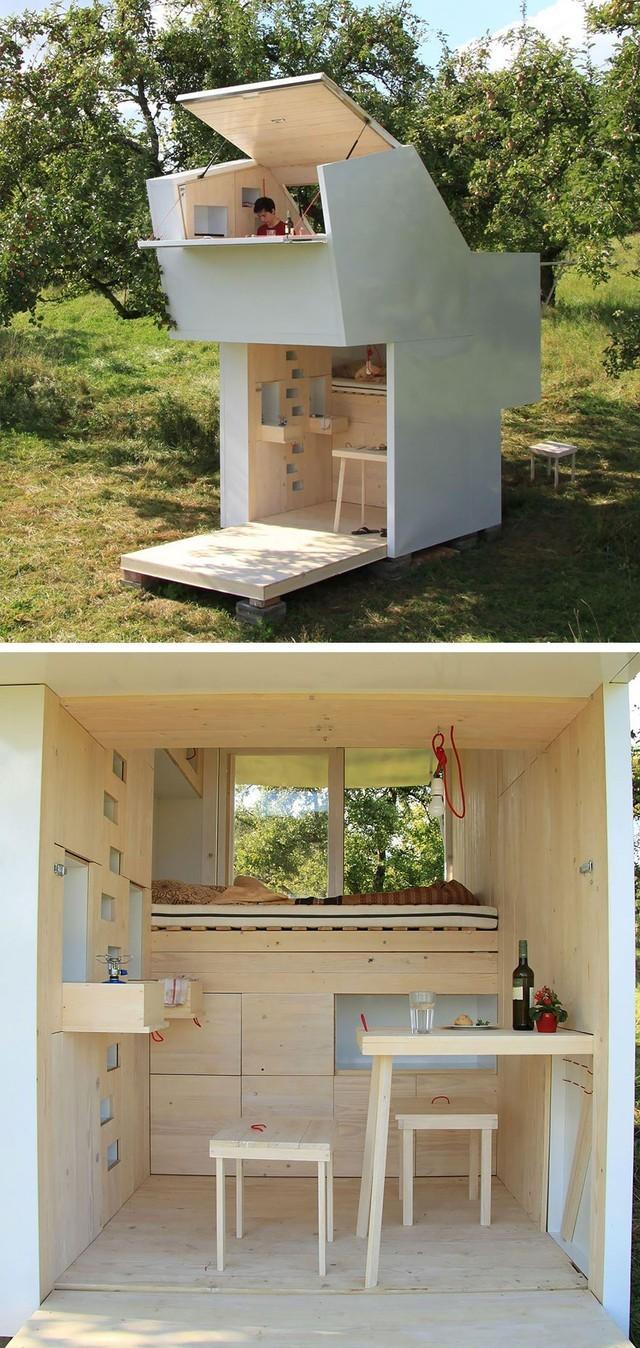 Một căn nhà gỗ siêu nhỏ ở Đức được thiết kế với ý nghĩa tiết kiệm không gian đô thị.
