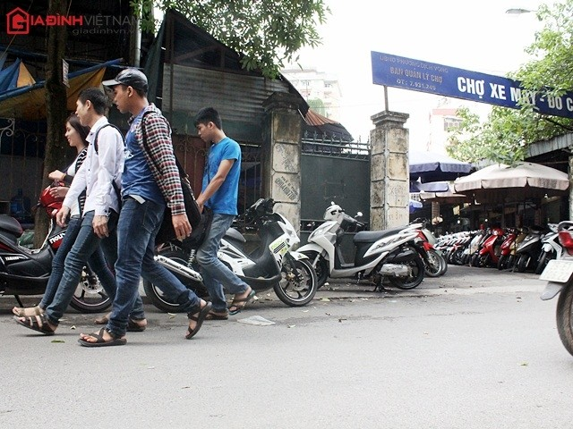 Hiện tại, chợ xe máy Chùa Hà gần như còn rất ít xe Tàu
