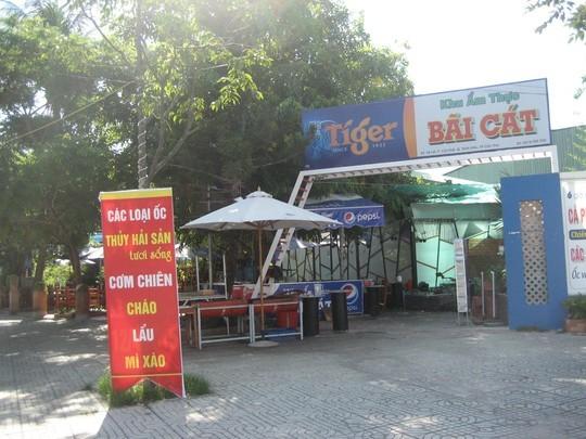 Khu ẩm thực cũng vừa mới xuất hiện trước mặt tiền công viên nước