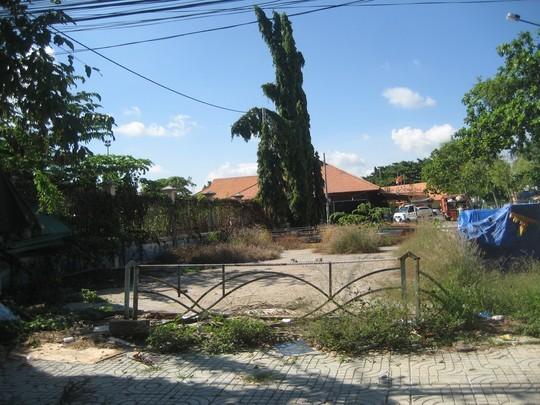 Cảnh hoang tàn của công viên sau thời gian dài không hoạt động