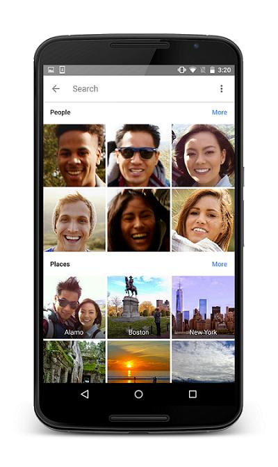Tính năng tìm kiếm ưu việt trên Google Photos.
