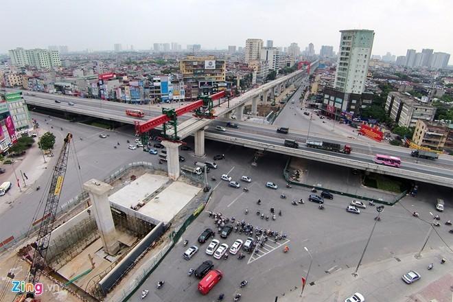 Giao lộ 4 tầng đầu tiên ở Việt Nam đang hình thành