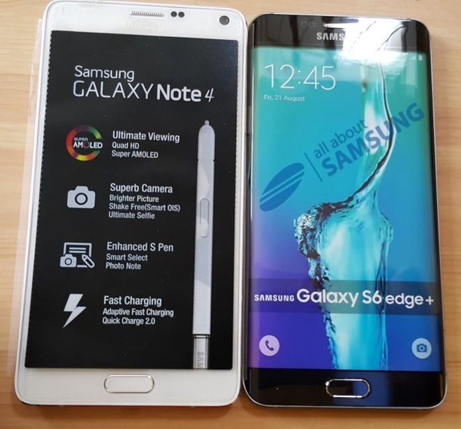 Mô hình Galaxy S6 Edge Plus có kích thước tương tự Galaxy Note 4.