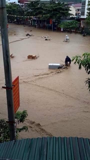 lũ, tuần giáo, điện binh, nước ngập, tài sản, vỡ đập