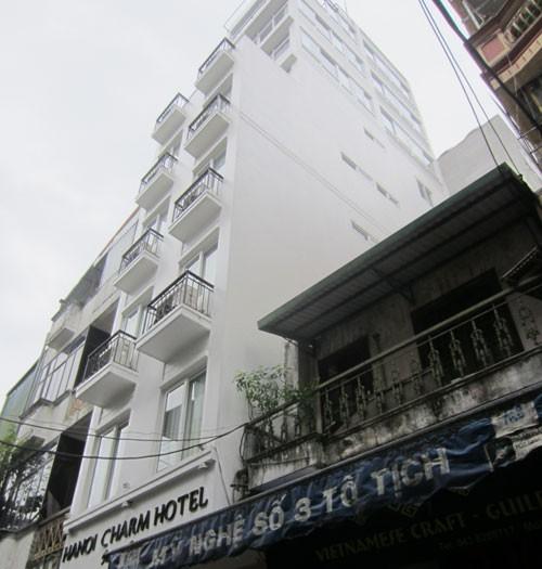 Công trình xây dựng vi phạm tại số nhà 1B phố Tố Tịch.