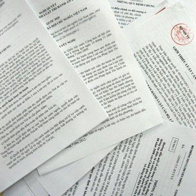 Nợ đọng nhiều văn bản liên quan quyền lợi người dân