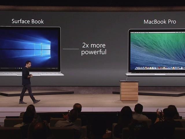 Surface Book được coi là đối thủ hàng đầu của MacBook Pro