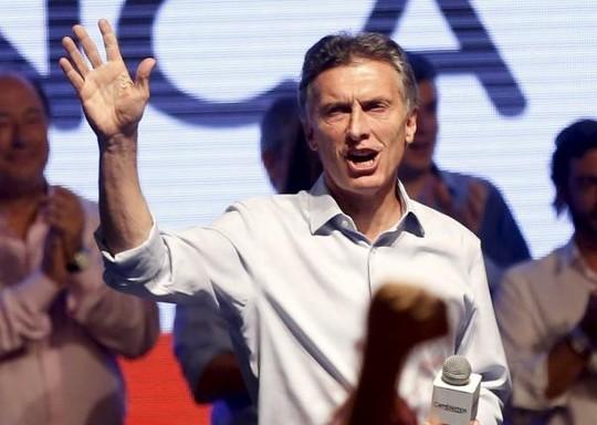 Ông Mauricio Macri vươn lên mạnh mẽ trong cuộc bầu cử tổng thống Argentina. Ảnh: Reuters