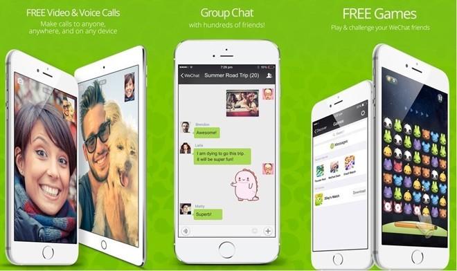 WeChat, 600 triệu người sử dụng đã giúp ứng dụng đến từ Trung Quốc trở thành một trong những ứng dụng tin nhắn phổ biến trên thế giới. Hiện tại, đế chế WeChat đã mở rộng mô hình kinh doanh của mình, bạn có thể chuyển tiền, đón taxi, đặt thực phẩm, mua vé xem phim, đặt lịch hẹn với bác sỹ, đọc tin tức và nhiều hơn nữa.