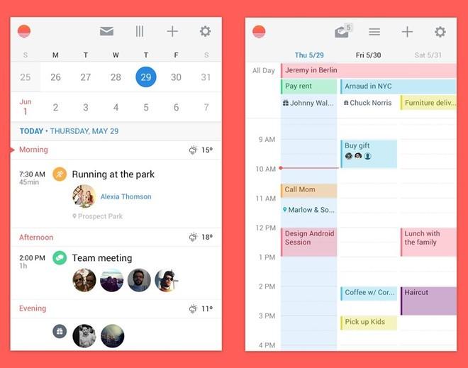 Sunrice, ứng dụng lịch sở hữu thiết kế đơn giản nhưng khá đẹp mắt, nó tích hợp với các dịch vụ phổ biến khác như Facebook, Evernote, Google Calendar,… giúp người dùng không bao giờ bỏ lỡ một cuộc hẹn hay lịch trình nào. Microsoft đã bỏ ra 100 triệu USD để mua lại công ty phát triển Sunrice.