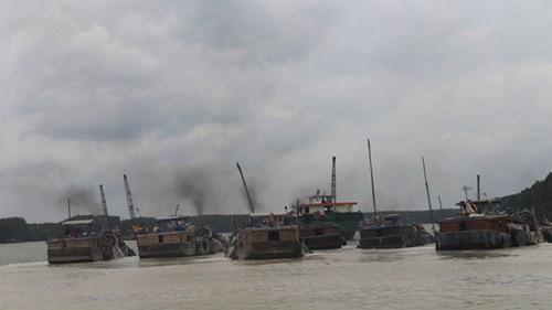 Khai thác cát núp bóng nạo vét luồng lạch: Băm nát sông Đồng Nai - ảnh 1