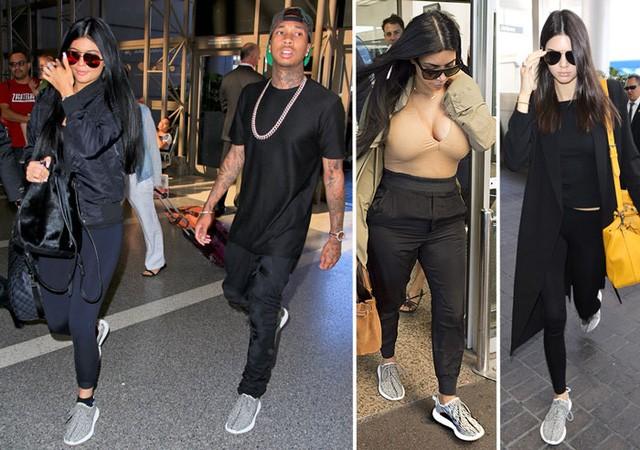 Kanye và những cô gái nhà Kardashian tích cực đeo giày Adidas