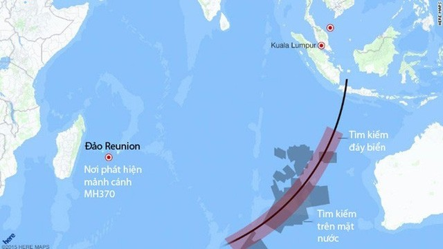 Máy bay Boeing 777 cất cánh lúc 0h41 ngày 8/3/2014 từ sân bay quốc tế ở Kuala Lumpur với 239 hành khách và phi hành đoàn. Theo kế hoạch, máy bay sẽ đáp xuống Bắc Kinh, Trung Quốc sau 6 giờ di chuyển. Ảnh: CNN