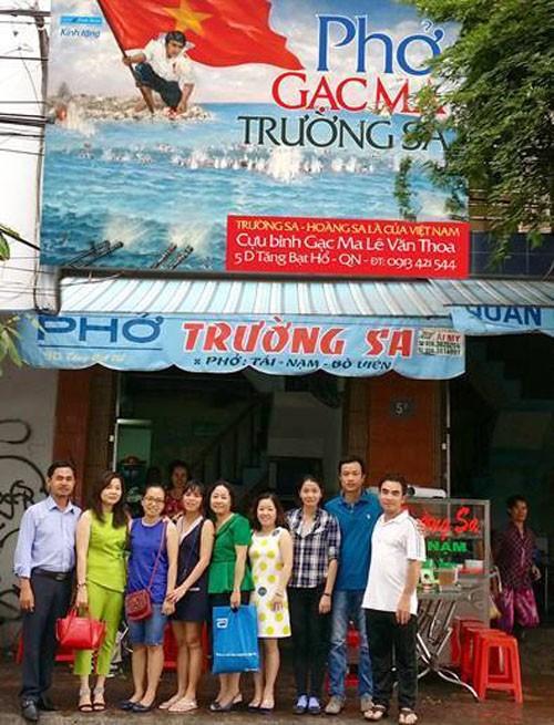 Ảnh quán phở Trường Sa của cựu binh Gạc Ma Lê Văn Thoa. Ảnh: FB First new