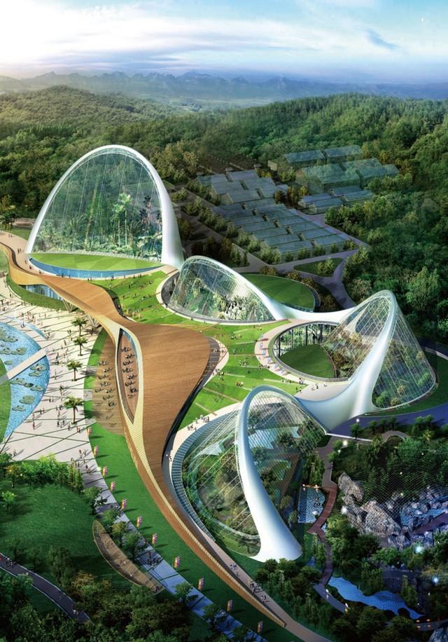 5. Dự án quần thể kiến trúc xanh Ecorium, Hàn Quốc được thiết kế theo sáng kiến của Viện Sinh thái Quốc gia Hàn Quốc là khu phức hợp trải rộng tới 33 nghìn ha. Các tòa nhà trung tâm sẽ được xây dựng sao cho thích nghi được với sự thay đổi của môi trường bên ngoài, giúp tiết kiệm năng lượng.