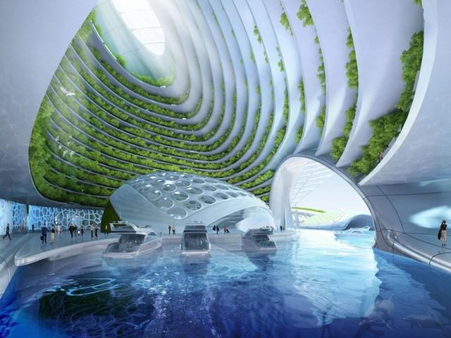 1. Aequorea là dự án của trúc sư người Bỉ - Vincent Callebaut trên vùng biển Rio de Janeiro.