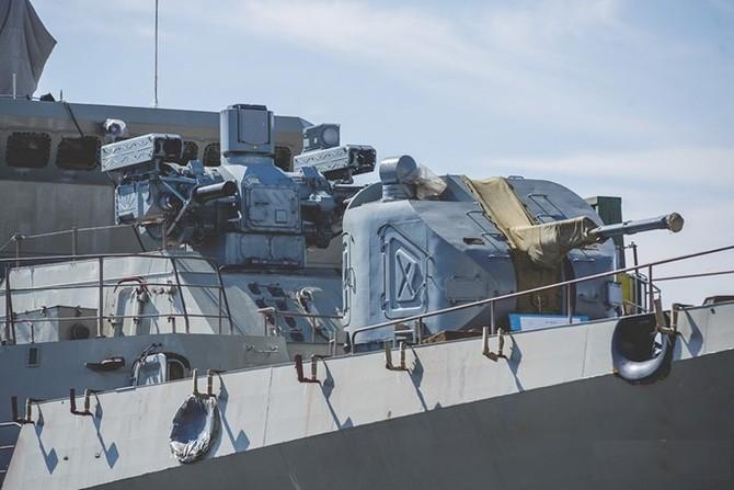 Chùm ảnh và clip tàu Gepard thứ 3 của Việt Nam hạ thuỷ ở Nga - ảnh 8
