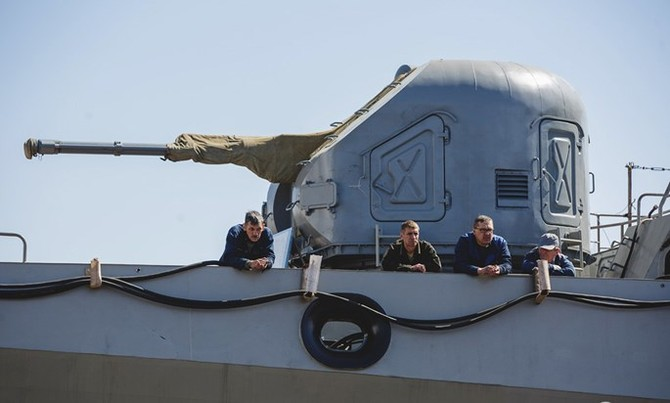 Chùm ảnh và clip tàu Gepard thứ 3 của Việt Nam hạ thuỷ ở Nga - ảnh 10