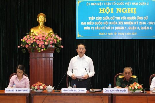 Chủ tịch nước Trần Đại Quang khẳng định chống tham nhũng không có vùng cấm