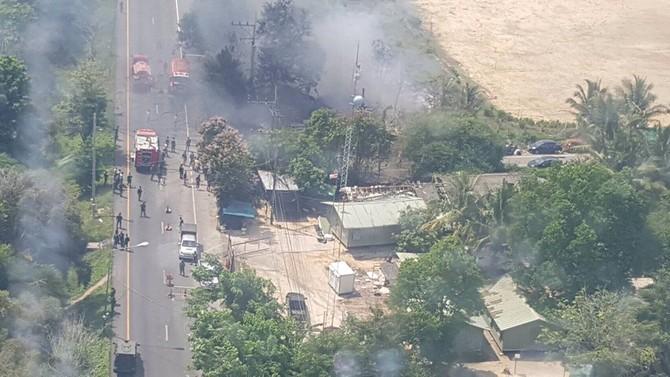 Vụ đánh bom ở Pattani trưa 5-7. Ảnh: Twitter