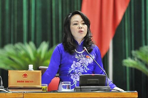 Bà Nguyễn Thị Kim Tiến được giới thiệu bầu chức Bộ trưởng Bộ Y tế khóa mới