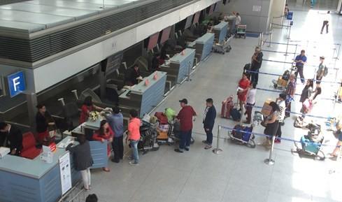 Khu vực nhà ga quốc tế hoạt động hoàn toàn bình thường