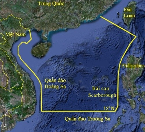 Khu vực cấm đánh bắt cá Trung Quốc đưa ra hồi tháng 5. Đồ họa: Sina.