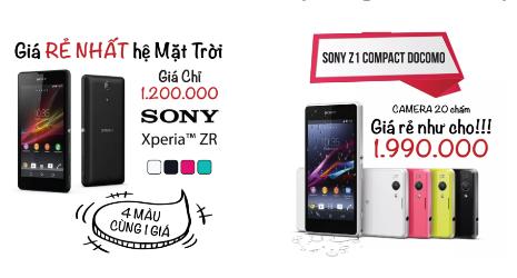 Một quảng cáo về những chiếc smartphone giá siêu rẻ.