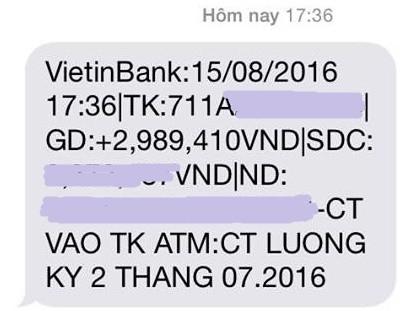 Lương của chị Hiền tổng cộng hơn 6 triệu đồng/tháng và được chi trả làm 2 lần (ảnh NVCC)