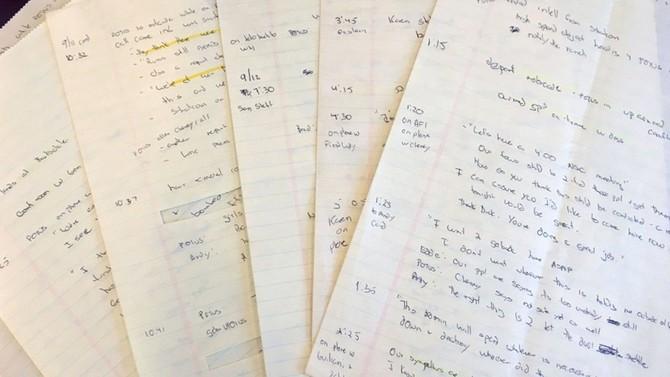 Lộ bản viết tay về phản ứng của tổng thống Bush ngày 11.9.2001 - ảnh 1