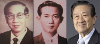 Từ trái qua, nhà sáng lập Tiang Chirathivat, chủ tịch đời thứ hai Samrit Chirathivat và chủ tịch đời thứ ba Wanchai Chirathivat.