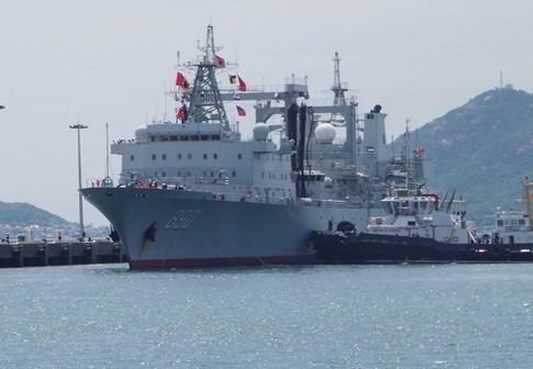Tàu Hải quân Trung Quốc thăm Cảng quốc tế Cam Ranh - ảnh 2