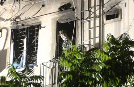 Hoang tàn sau vụ cháy kinh hoàng quán karaoke ở Hà Nội - ảnh 7