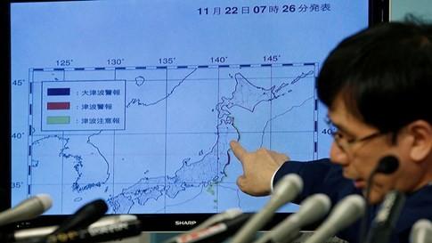 Nhật Bản: Động đất 7,3 độ Richter, sóng thần ngoài khơi Fukushima - ảnh 1