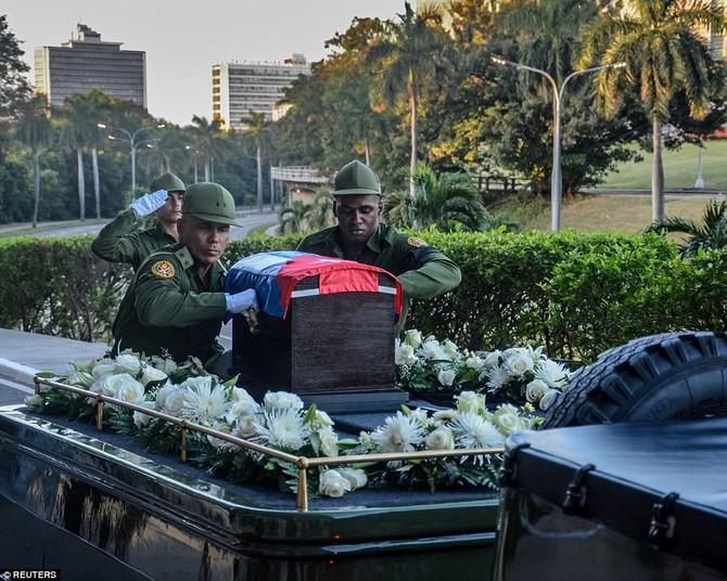 Hanh trinh cuoi cung cua lanh tu Fidel Castro ve noi an nghi hinh anh 2