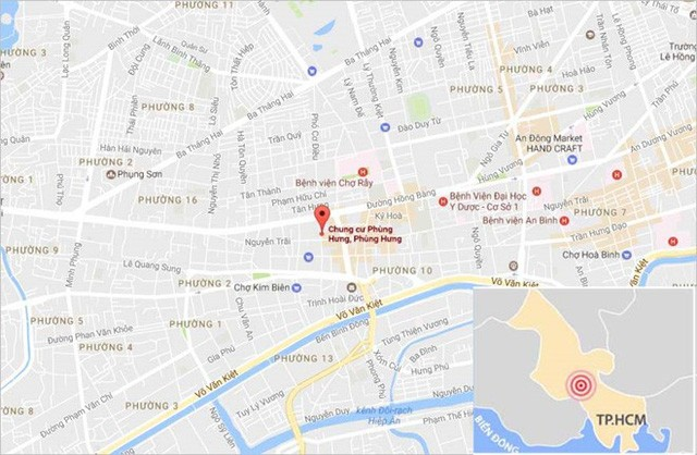Vị trí nơi xảy ra vụ cháy. Ảnh: Google Maps.