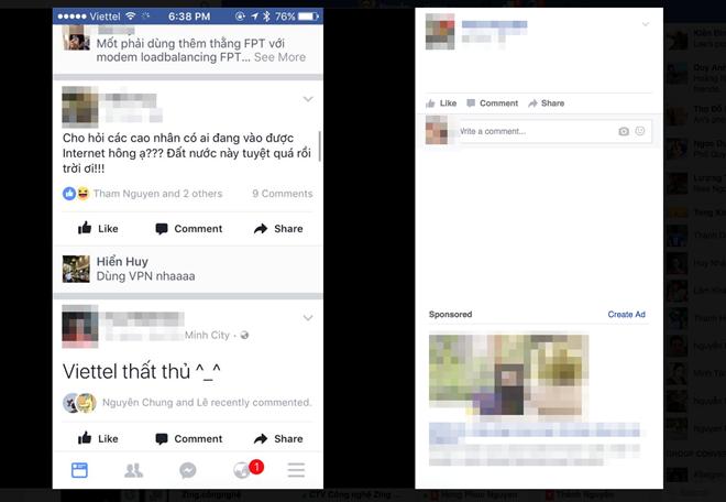 Khach hang Viettel khong truy cap duoc Google, Facebook hinh anh 1