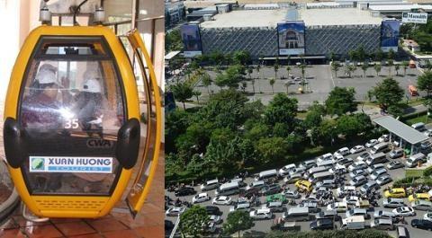 Kết quả hình ảnh cho Đi cáp treo vào sân bay Tân Sơn Nhất?