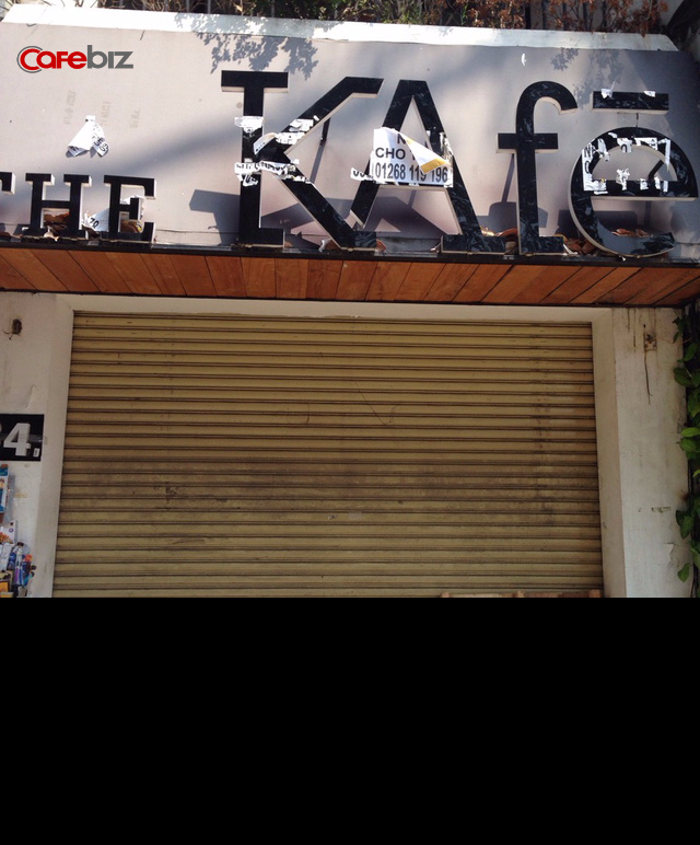 The KAfe tại 34 Lê Lợi đã đóng cửa được khoảng 3-4 tháng. Ảnh: Thế Trần.