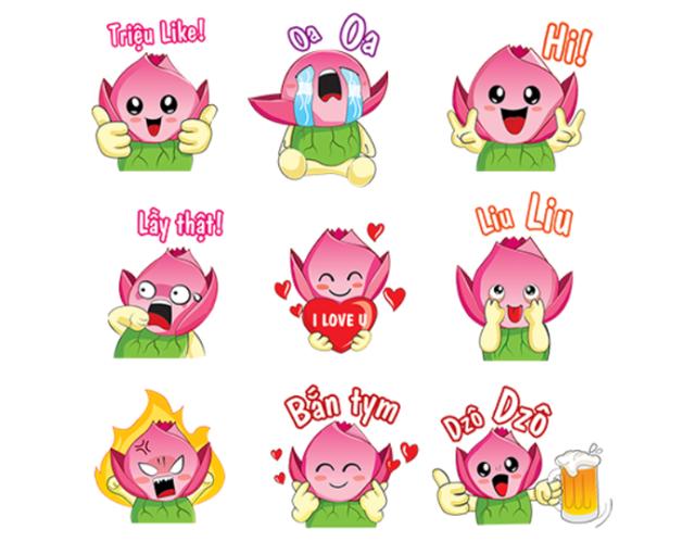 Những biểu cảm ngộ nghĩnh của Bé Sen trong bộ sticker