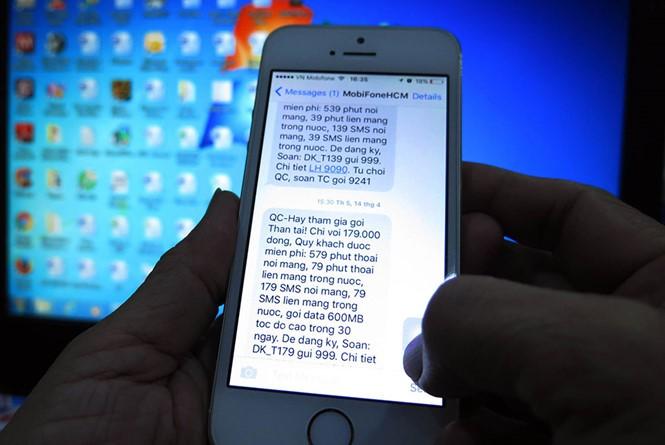 Tin nhắn rác, Viễn thông, Di động, Smartphone