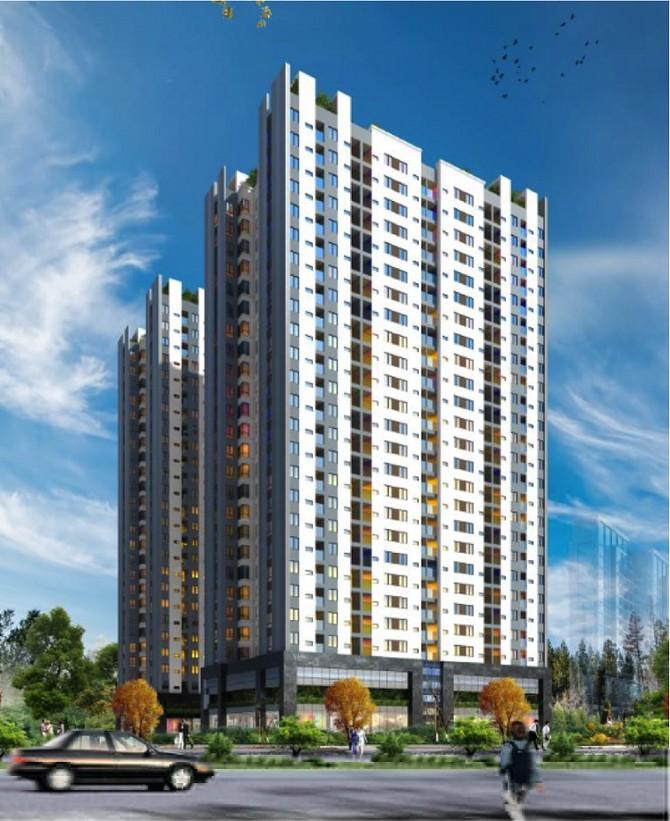 Phối cảnh tòa chung cư 29 tầng Công ty Hoàng Huy sắp xây dựng tại phường Đồng Quốc Bình.