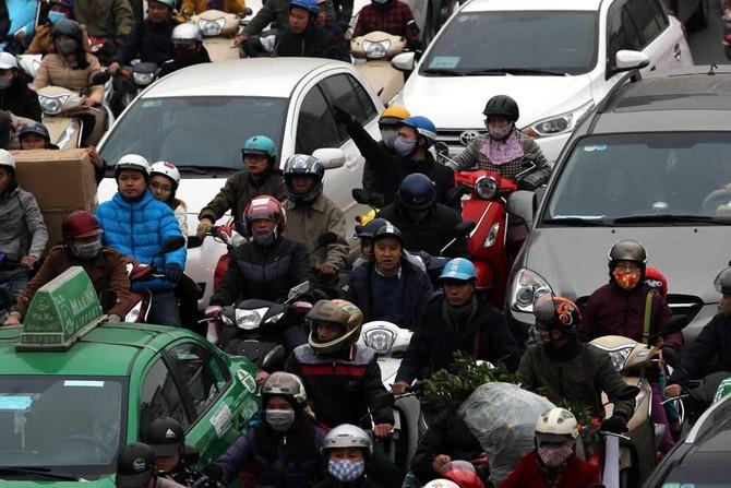 ùn tắc,ùn tắc giao thông,tắc đường,Tết Nguyên đán,Hà Nội