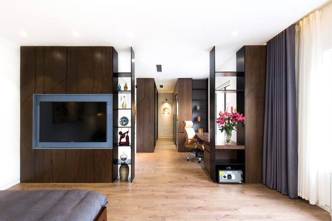Những cánh cửa bí mật trong biệt thự ốp gỗ ở Hải Dương