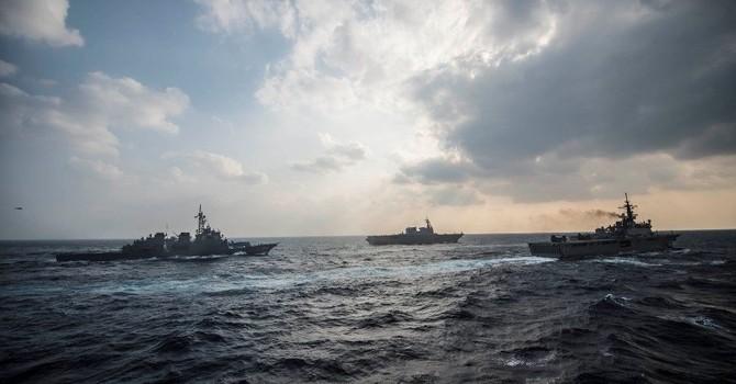 """Nhật Bản và Philippines tập trận ở Biển Đông để """"răn đe"""" Trung Quốc"""