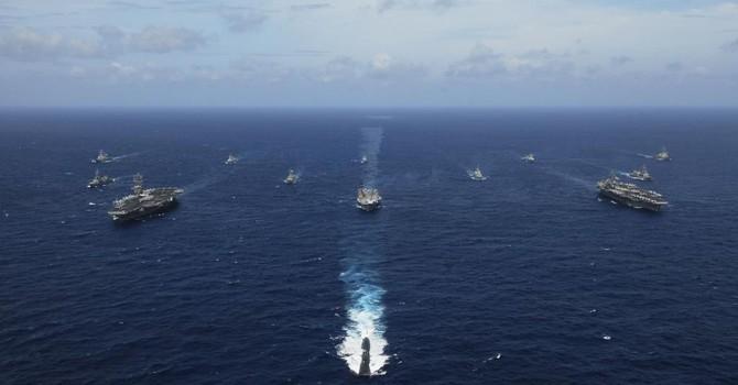 """Nhật-Úc-Nhật tập trận quy mô lớn """"răn đe"""" Trung Quốc"""